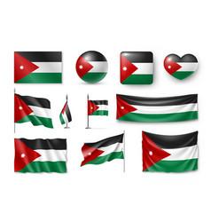 set jordan flags banners banners symbols flat vector image