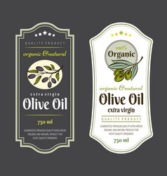 set labels for olive oils elegant design vector image
