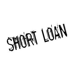 short loan rubber stamp vector image