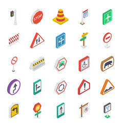 sign and symbols isometric pack vector image