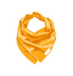 Silk neck scarf vector