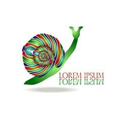 Snail Logo vector image