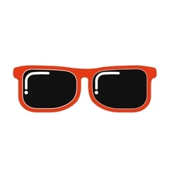 Sun glasses view icon vector