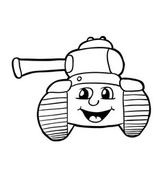 Tank with smile vector