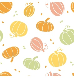 Thanksgiving colorful pumpkins silhouettes vector