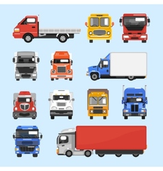 Truck Icons Set vector