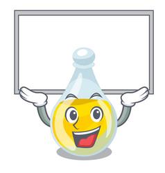 Up board sesame oil in a cartoon bottle vector