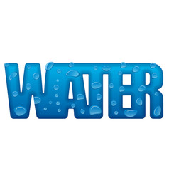 water logo lettering vector image