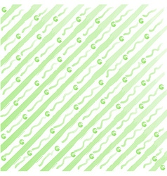 watercolor stripes and dots background vector image