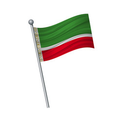 waving of flag on flagpole official colors and vector image