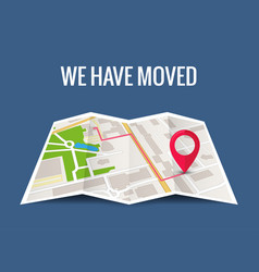 we have moved new office icon location address vector image