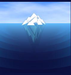 White polygonal iceberg sailing vector