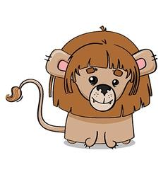 Adorable lion cub vector