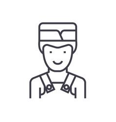 barman line icon sign on vector image