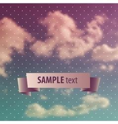 Blurred sky vintage background vector image