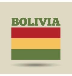 Bolivia country flag vector