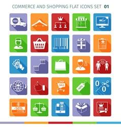 Commerce Flat Set 01 vector image vector image