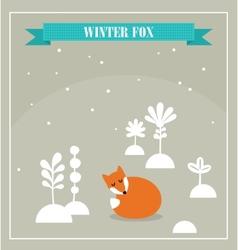 Cute little fox vector image vector image