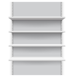 Empty market retail stand with shelves for vector image vector image