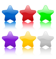 color stars icon vector image vector image