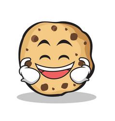 laughing sweet cookies character cartoon vector image