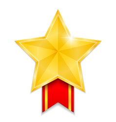 Star Shaped Medal vector image vector image