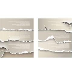 design elements torn paper vector image