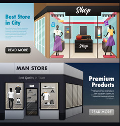 fashion store front banners vector image vector image