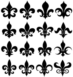 fleur de lys design vector image vector image