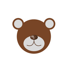 head bear cute animal image vector image