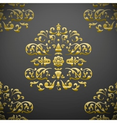 seamless royal floral pattern vector image vector image