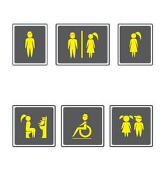 toilet signs restroom signboardsboy and girl vector image