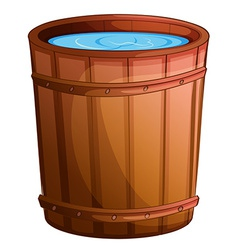 A big bucket of water vector image