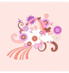 abstract shapes design vector image