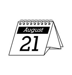 calendar desk office supplies icon graphic vector image