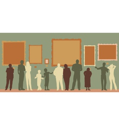 Gallery color vector image vector image