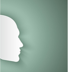 paper human face vector image vector image
