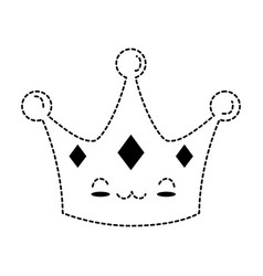 Queen crown kawaii character vector