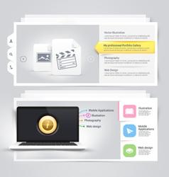 Website design elements portfolio template vector image