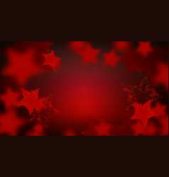 abstract star sparkling bokeh in red colors vector image
