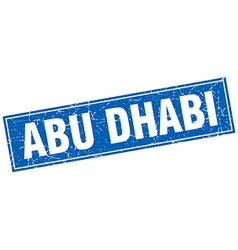 Abu Dhabi blue square grunge vintage isolated vector