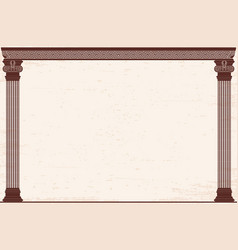 ancient greek background vector image
