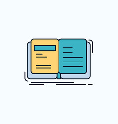 Author book open story storytelling flat icon vector