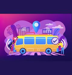 Autonomous public transport concept vector