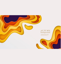 Autumn banner with multi layered shapes in paper vector