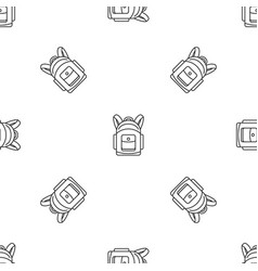 backpack pattern seamless vector image