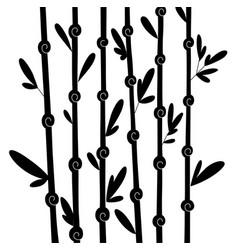 bamboo silhouette forest set nature japan china vector image