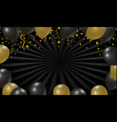 black friday sale design of balloon background vector image