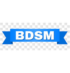 Blue ribbon with bdsm title vector