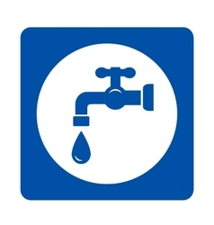 Blue tap and drop icon vector